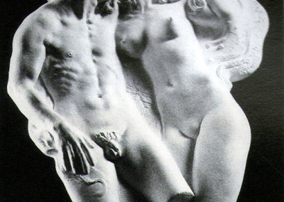 Adamo ed Eva, 1962, bassorilievo in gesso, 24x21 cm