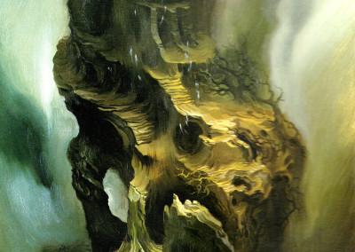 Cronos, 1969, olio su tavola, 30x38 cm