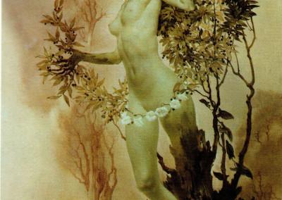 Dafne, 1970, olio su tavola, 70x50 cm