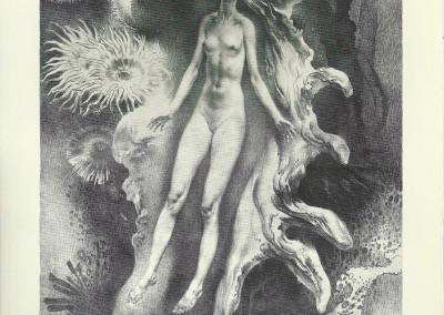 """Metamorfosi, litografia della serie """"Deesses"""""""