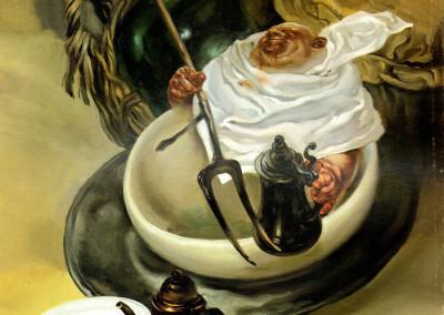 Gola, 1966, olio su tavola, 35x42cm