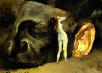 Segreti, 1982, olio su tavola, 42x32 cm