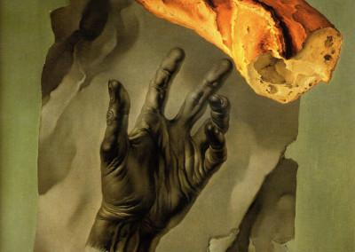 Il Pane, 1960, olio su tavola, 30x42 cm