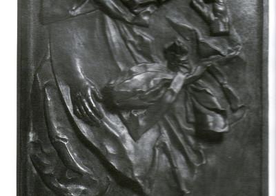 La passione, 1963, bronzo, 41x76 cm