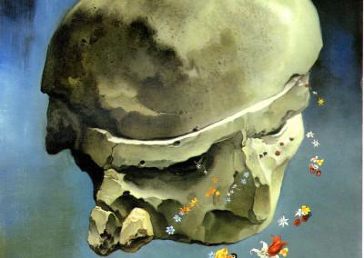 Le opere dell'arte, 1973, olio su tavola, 34x41 cm