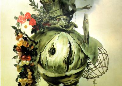 L'uccellatore, 1979, olio su tavola, 40x60 cm