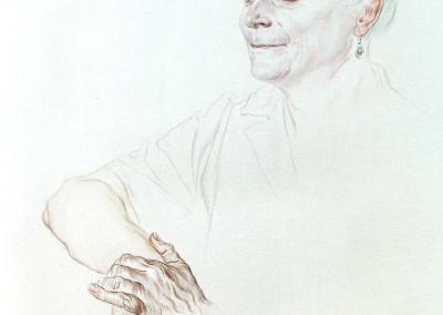 Mamma Ersilia, 1963, acquarello su carta, 24x38 cm