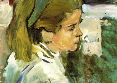 Margherita, 1974, tempera su tavola, 26x35 cm
