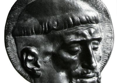 San Francesco d'Assisi (recto). Medaglia commissionata dal Sacro Convento di San  Francesco, prodotta da Numiversal Milano 1977