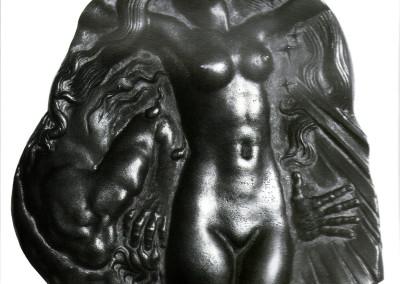 Omaggio a Victor Hugo (verso). Medaglia commissionata dalla Zecca di Parigi
