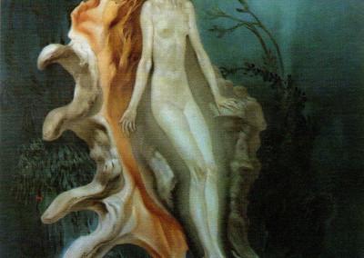 Metamorfosi, 1970, olio su tavola 50x70 cm