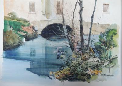 Paesaggio, acquarello su carta 35x50 cm