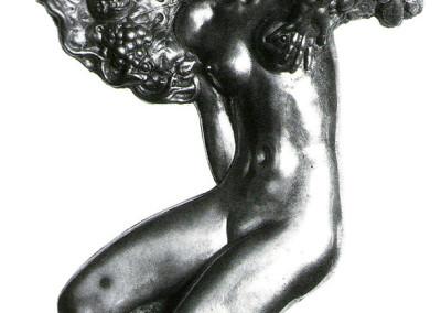 Pomona (recto), 1973, argento, 26x18 cm