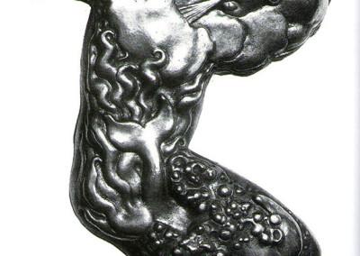 Pomona (verso), 1973, argento, 26x18 cm