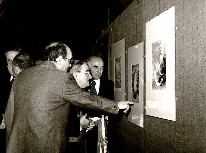 Rino Ferrari alla mostra Il Cantico e noi, Assisi 1977