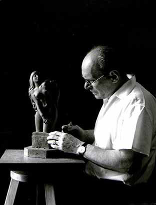 Nello studio di Bergamo nel 1971