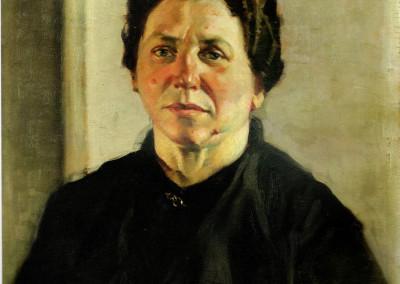Ritratto della madre, 1936, olio su tavola, 45x55 cm