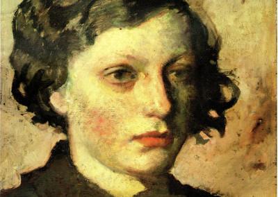 Ritratto di Ernestina, 1936, olio su tavola, 35x40 cm