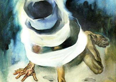 Superbia, 1963,  olio su tavola, 46x55cm
