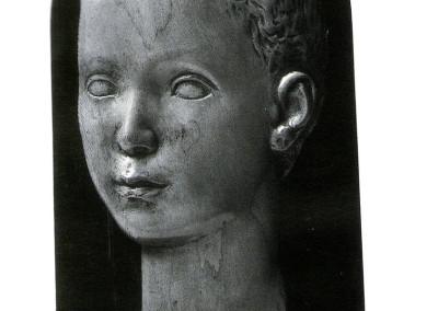 Testina adolescente, 1936, legno, 16x24 cm