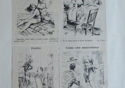 Vignette del giornale satirico <i>Marc'Aurelio</i>
