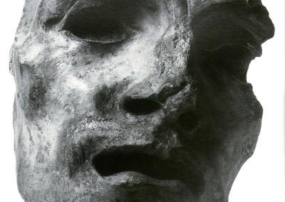 Testa alla Wildt, 1935, pietra, 22x30 cm