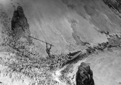 Tavola 1, dettaglio: Il nocchiero Caronte