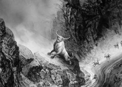 Tavola 3, dettaglio: Il Minotauro e i violenti